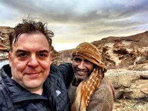 Bedouin guide into Iraq